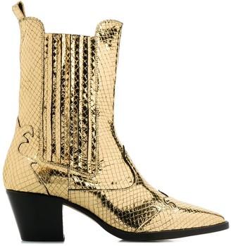 Paris Texas Texano metallic boots
