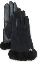 UGG Carry Forward Classic Suede Smart Gloves, Black
