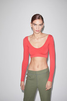 Out From Under Zoey Seamless V-Neck Cropped Top