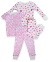 Rosie Pope® 4-Piece Lips Pajama Set in Pink