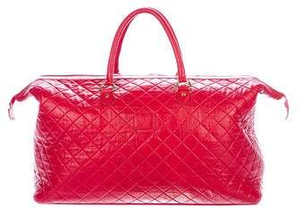 Del Toro Quilted Leather Weekender