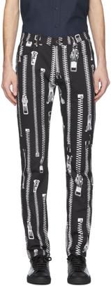 Moschino Black Zipper Trousers