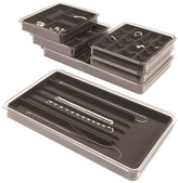 Container Store Necklace Stacking Tray Grey
