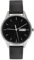 Uniform Wares Silver & Black Rubber C40 Calendar Watch