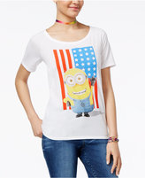 Hybrid Despicable Me Juniors' Minion Flag Graphic T-Shirt