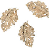Chelsea House Set of 3 Fallen Leaves Objects - Champagne