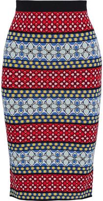 Alice + Olivia Morena Jacquard-knit Pencil Skirt