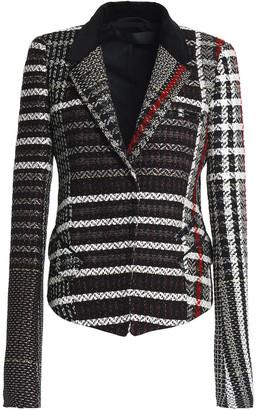 Haider Ackermann Velvet-trimmed Tweed Blazer