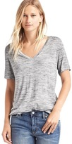 Gap Shirred V-neck tee