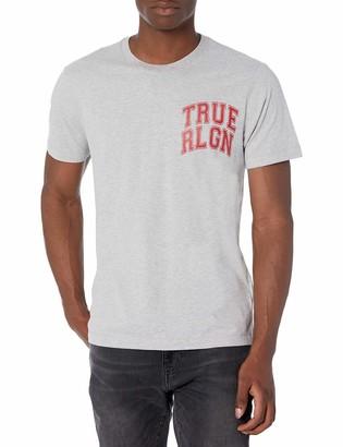 True Religion Men's TR Collegiate Graphic Short Sleeve Crewneck Tee