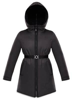 Moncler Girls' Alyssa Coat with Sherpa-Lined Hood - Big Kid