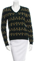 Marni V-Neck Patterned Sweater