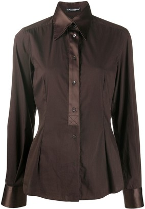 Dolce & Gabbana Contrasting-Collar Fitted Shirt
