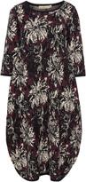 Isolde Roth Plus Size Floral jacquard knit bubble dress