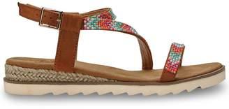 Joe Browns Sparkle All Day Sandals - Tan/Multi