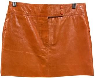 Louis Vuitton Orange Leather Skirts