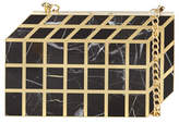 Rafe Pia Geometric Shell Minaudiere, Black/Gold