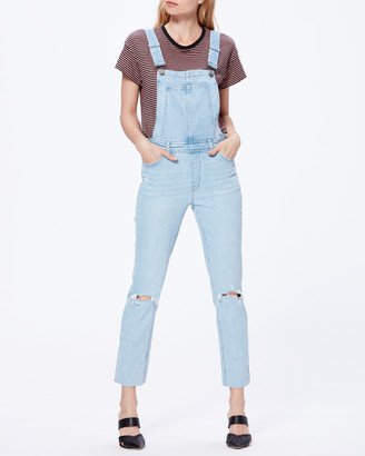 Paige Hi Rise Sierra Overall Raw Hem-Lindon Destructed