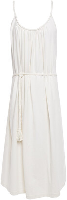 Vanessa Bruno Braid-trimmed Gathered Cotton-jersey Dress