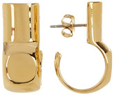 Botkier Cut C-Drop Hoop Earrings