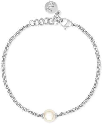 Majorica Silver-Tone Imitation Pearl Bracelet