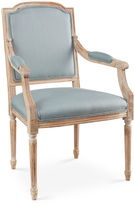 Sarreid Ltd. Louis Armchair, Spa Linen