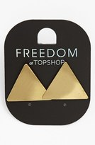 Topshop Brushed Triangle Earrings