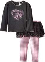 Petit Lem Baby-Girls Newborn Flowers Top and Legging