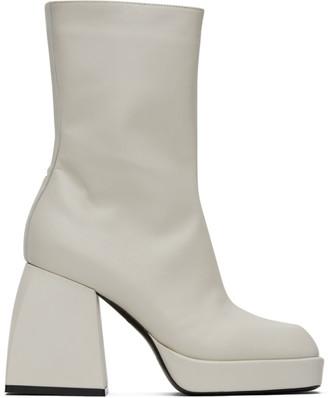 Nodaleto White Bulla Corta Boots