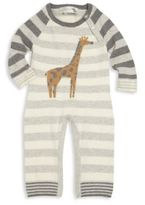 Lucky Jade Baby's Striped Giraffe Coverall