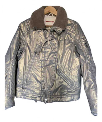 Prada Gold Polyester Leather jackets