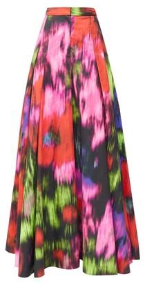 Carolina Herrera Superbloom-print Poplin Wide-leg Trousers - Womens - Pink Multi