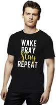 Epic Shirt Zone Wake Pray Slay Man's T-Shirt