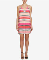 CeCe Strappy Striped Shift Dress