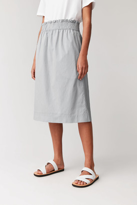 Cos Striped Cotton Skirt