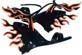 Prada Flame Black Patent leather Sandals