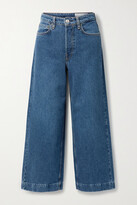 Thumbnail for your product : Rag & Bone Maya Cropped High-rise Wide-leg Jeans - Mid denim