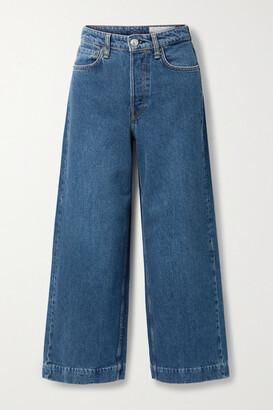 Rag & Bone Maya Cropped High-rise Wide-leg Jeans - Mid denim