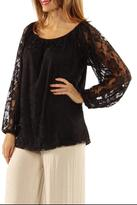 24/7 Comfort Apparel Lace Tunic Top