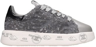 Premiata Belle Sneakers In Silver Tech/synthetic