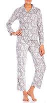 aria Printed Fleece Pajama Set