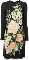 Dolce & Gabbana rose print midi dress - women - Silk/Spandex/Elastane/Viscose - 44