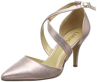 Lotus Women's Justine Closed Toe Heels, (Pink Kk), 6 (40 EU)