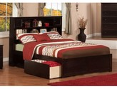 Wasilewski Mate's & Captain's Bed with Bookcase Viv + Rae Bed Frame Color: Espresso, Size: Full