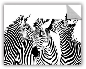 ArtWall Black and White Removable Wall Art Mural