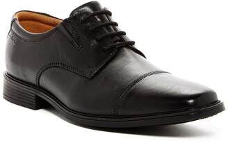 Clarks Tilden Leather Cap Toe Derby - Wide Width Available