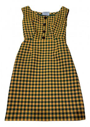 Prada Green Wool Dresses
