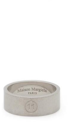 Maison Margiela Brushed Sterling-silver Ring - Mens - Silver