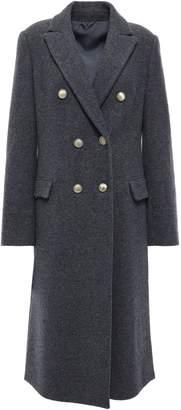 Brunello Cucinelli Double-breasted Bead-embellished Cashmere-felt Coat