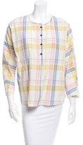 Creatures of Comfort Margot Plaid Print Top w/ Tags